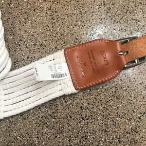 J.Crew Leather and rope belt.